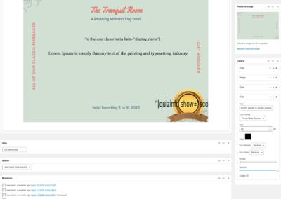 LearnDash Certificate Builder - Design certificate